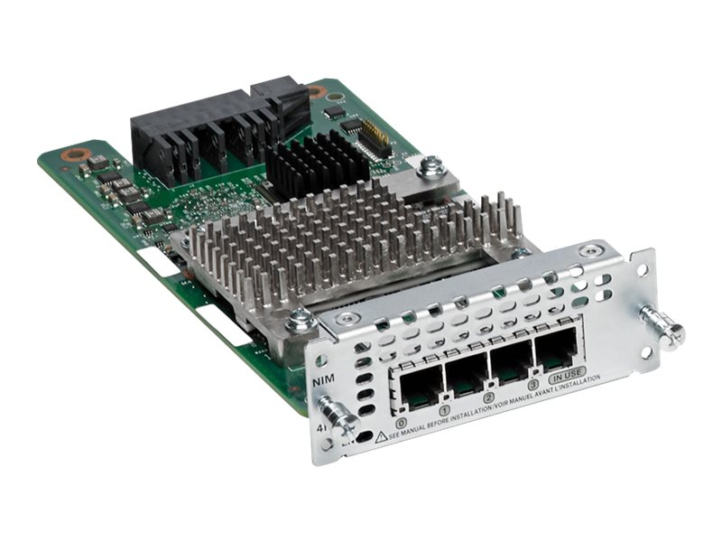 Cisco 4-Port Network Interface Module FXS FXS-E AND DID, NIM-4FXS=, 30861961, Network Device Modules & Accessories
