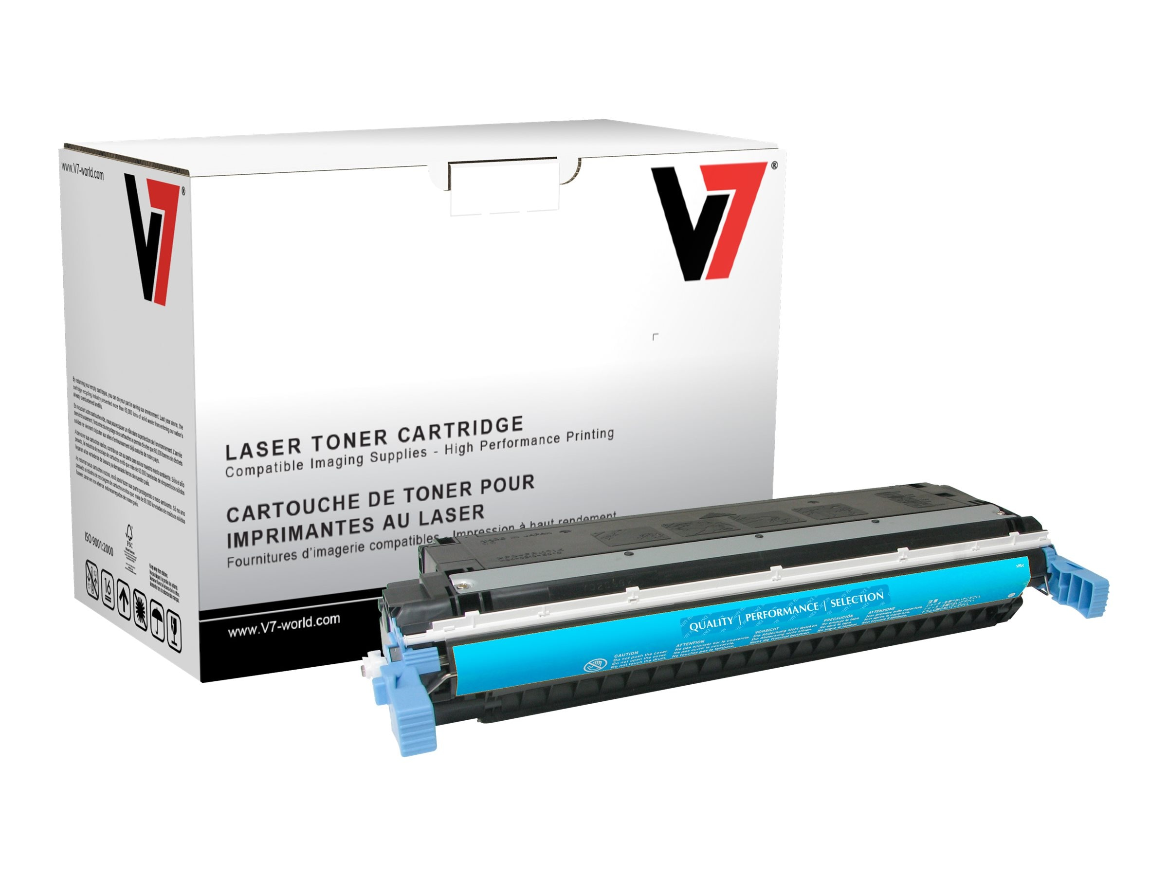 V7 C9731A Cyan Toner Cartridge for HP Color LaserJet 5500 (TAA Compliant)