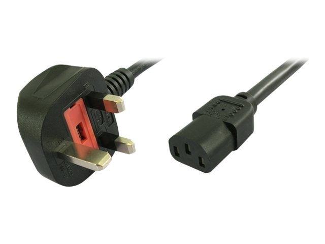 APC Power Cord UK Plug to IEC-320 C13 3A 250V, Black, 2m, 40247-2M, 15610821, Power Cords