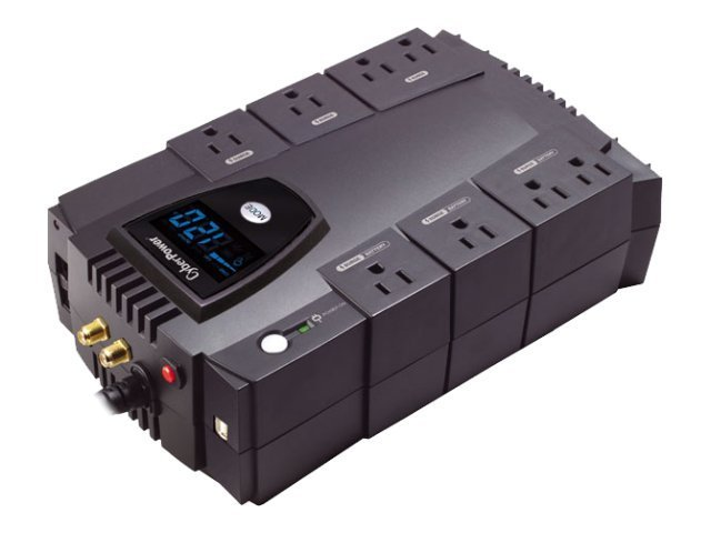 CyberPower 685VA CP GreenPower UPS LCD AVR (8) Outlets, CP685AVRLCD, 9349031, Battery Backup/UPS