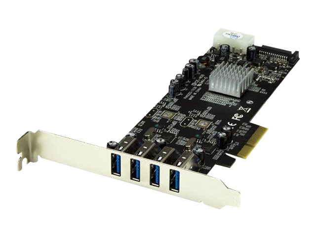 StarTech.com 4-Port Dual Bus PCI Express (PCIe) SuperSpeed USB 3.0 Card Adapter with UASP