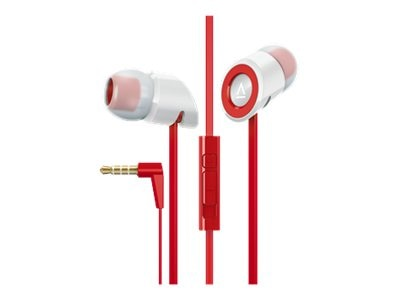 Creative Labs Hitz MA350 Noise-Isolation Headset with Microphone for Smartphones, Red, 51EF0610AA011