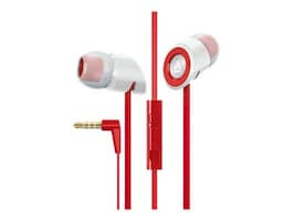 Creative Labs Hitz MA350 Noise-Isolation Headset with Microphone for Smartphones, Red, 51EF0610AA011, 15983345, Headsets (w/ microphone)