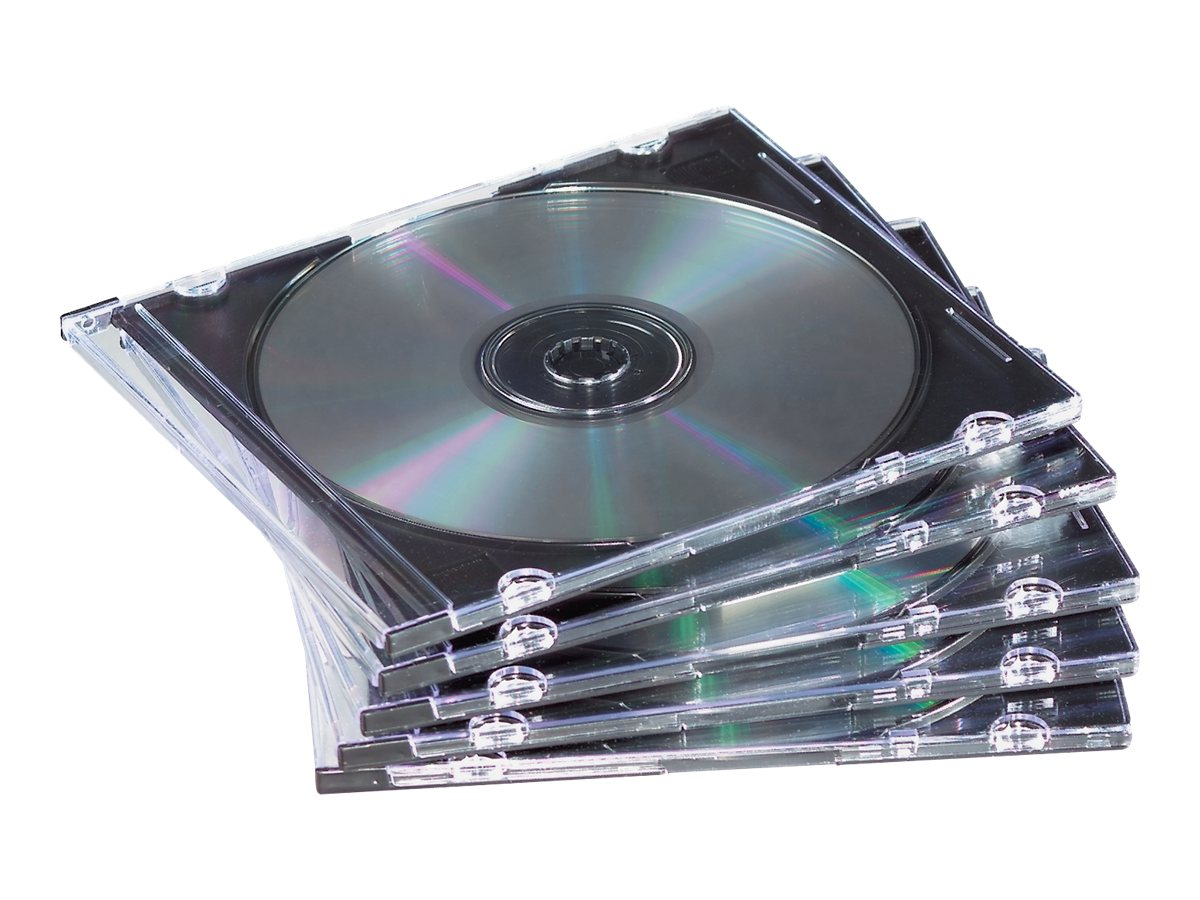 Fellowes Neato SlimLine Jewel Cases - Black (50-pack), 98330, 5830484, Media Storage Cases