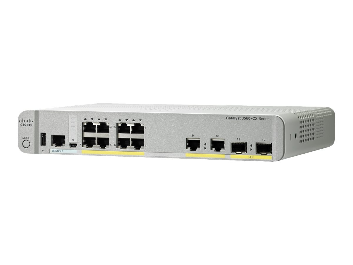 Cisco Catalyst 3560-CX 8-Port POE IP Base, WS-C3560CX-8PC-S, 18462908, Network Switches