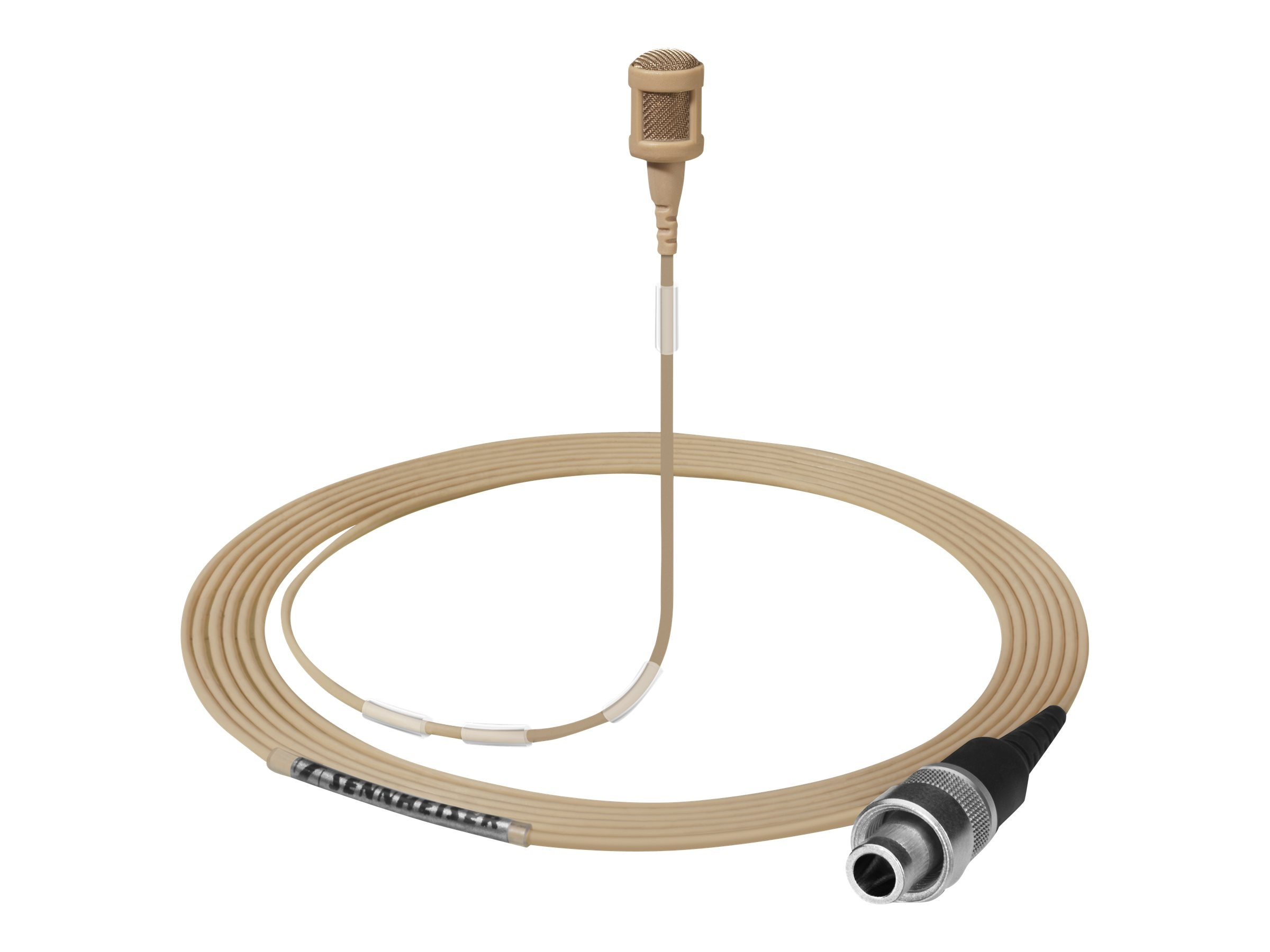 Sennheiser MKE 1-5-M Sound Pro Clip-On Microphone Open-ended Cable, 3m, Light Beige, Paintable, 502880
