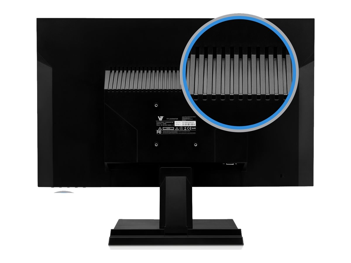 V7 23.6 L23600WHS-9N Full HD LED-LCD Monitor, Black, L23600WHS-9N