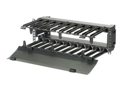 Panduit High Capacity Horizontal Cable Manager w  Hinged Cover Front, PEHF3, 30634485, Rack Cable Management
