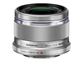 Olympus M.Zuiko Digital 25mm f 1.8 Lens, Silver, V311060SU000, 16793199, Camera & Camcorder Lenses & Filters
