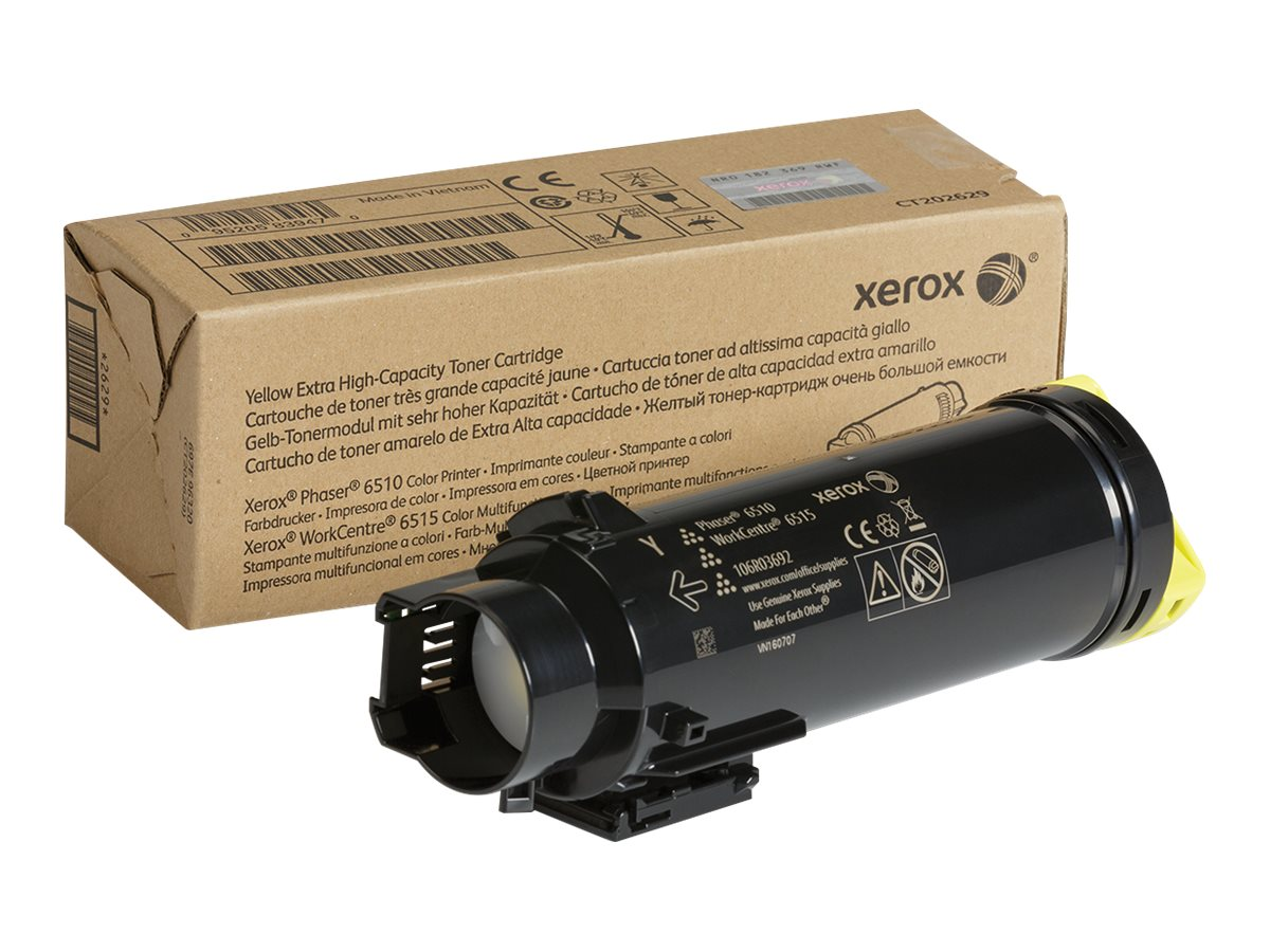 Xerox Yellow Extra High Capacity Toner Cartridge for Phaser 6510 & WorkCentre 6515 Series, 106R03692