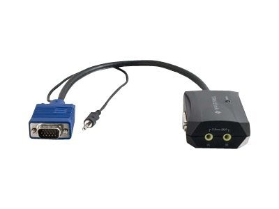 C2G Trulink 2-Port UXGA + 3.5mm Monitor Splitter Cable, 11in - $7 Instant Savings, 29588, 12761798, Cables