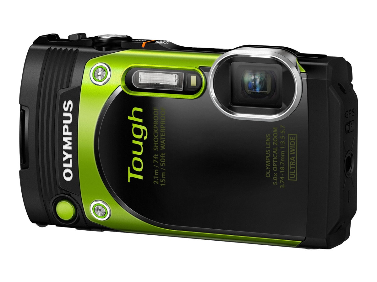 Olympus Stylus Tough TG-870 Digital Camera, Greeen