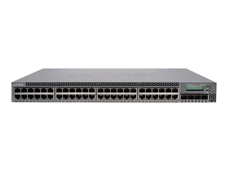 Juniper Networks EX3300 48-port 10 100 1000BaseT with 4 SFP Plus 1 10G Uplink Ports, EX3300-48P, 13414771, Network Switches