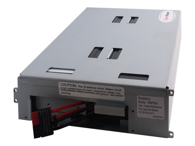 CyberPower UPS Replacement Battery Cartridge 12V 7Ah 4-Battery Pack, RB1270X4B, 14775157, Batteries - Other