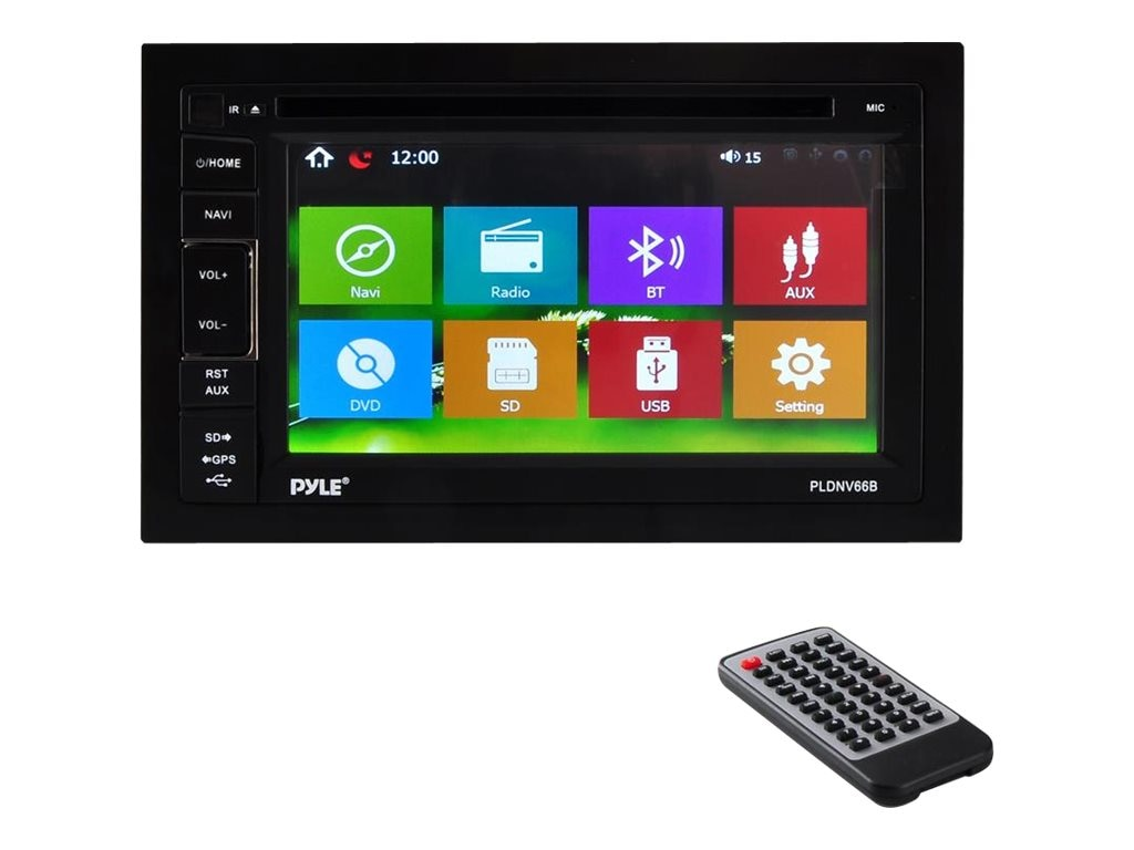 Pyle 6.5 Double-DIN In-Dash TFT LCD Touchscreen Navigation DVD Receiver, PLDNV66B