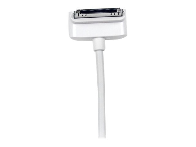 StarTech.com Down Angle Apple 30-pin Dock Connector to USB Cable for iPhone iPod iPad with Stepped Connect, 2m, USB2ADC2MD