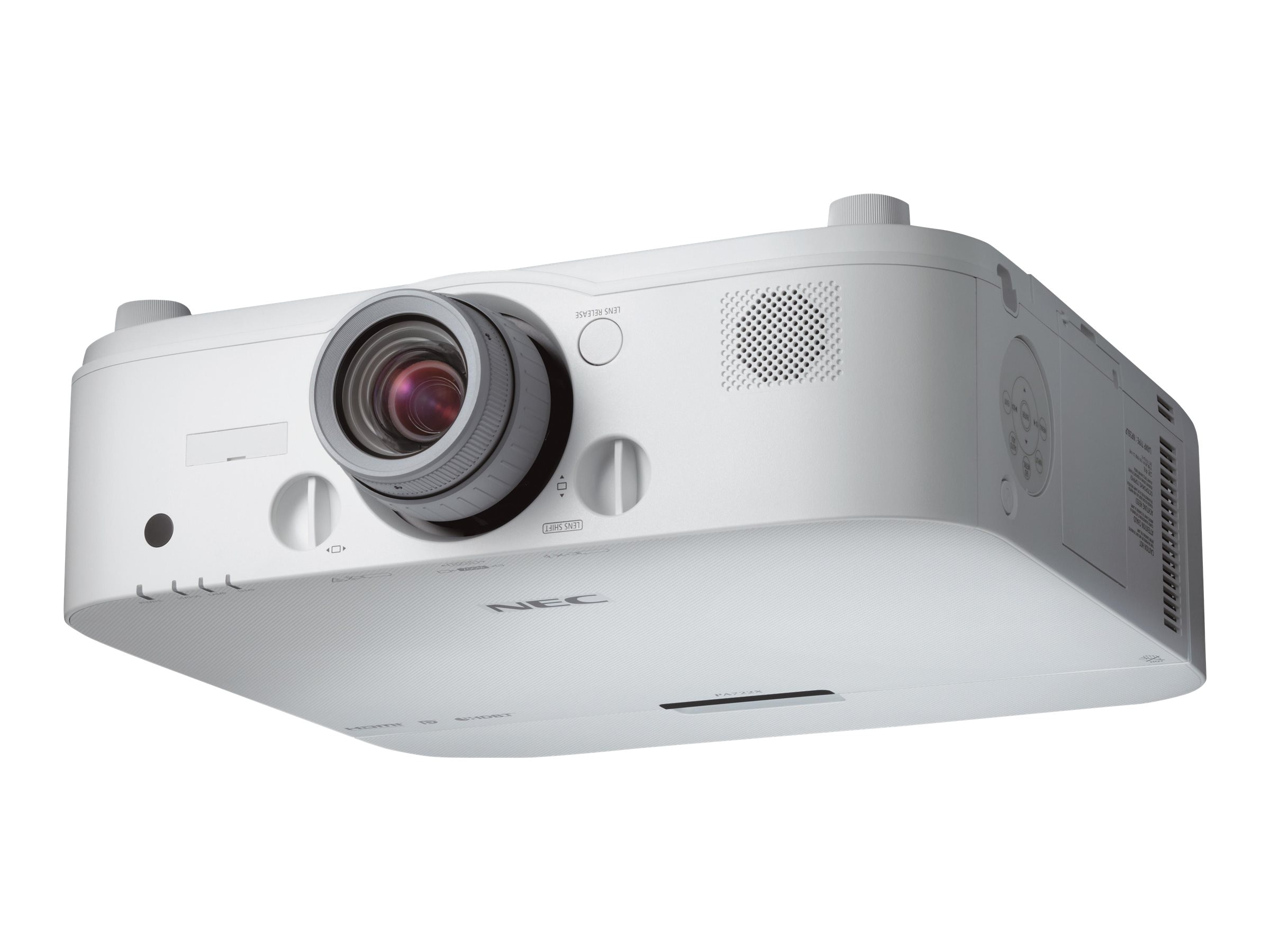 NEC PA722X XGA LCD Projector, 7200 Lumens, White with 1.5-3.0:1 Zoom Lens, NP-PA722X-13ZL, 17964068, Projectors