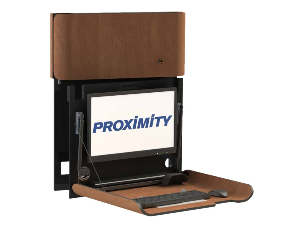 Proximity Classic Series SLIM Wall-Mounted Computer Workstation, Wild Cherry