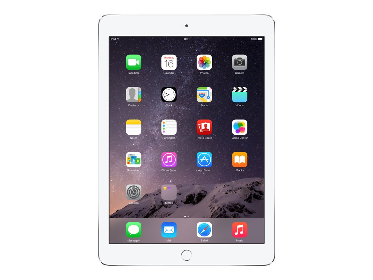 Apple iPad Air 2, 16GB, Wi-Fi+Cellular for Apple SIM, Silver, MH2V2LL/A, 17954513, Tablets - iPad