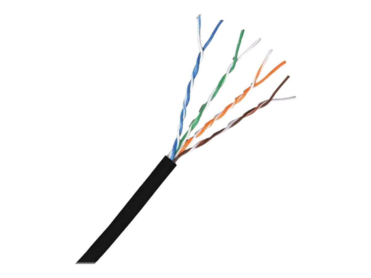 Comprehensive Cat6 550MHz Stranded UTP Bulk Cable, Black, 1000ft, CAT6STBK-1000, 15786966, Cables