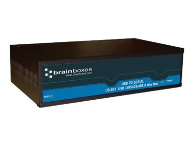 Brainboxes 8-Port RS422 485 USB to Serial Multi Drop Hub, US-601, 15251144, Controller Cards & I/O Boards