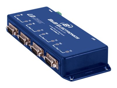 Quatech Isolated USB to Serial Converter, (4) RS-232, USO9ML2-4P, 14477651, Adapters & Port Converters