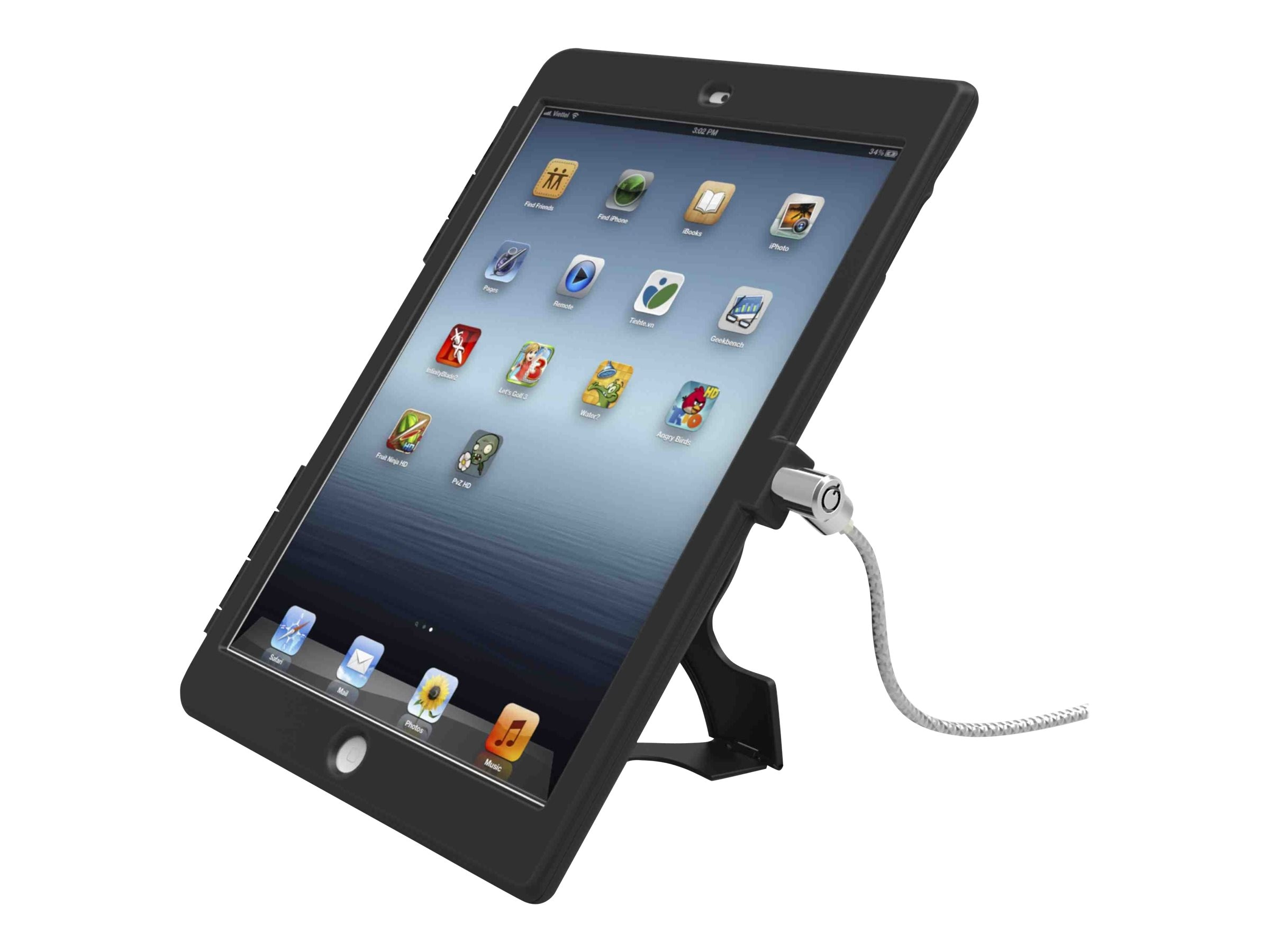 Compulocks Security Bundle for iPad Air, Black, IPAD AIR BB, 16900038, Security Hardware