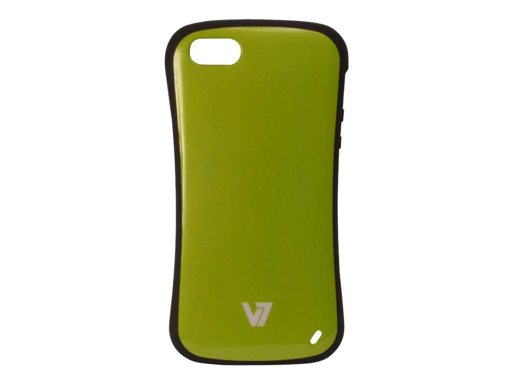 V7 Slim Survivor Bumper Hard Shell Protective PC PU Cover Case for iPhone 5, Green, PA19SGRN-2N