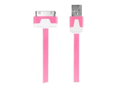 Digipower Flat 30pin Cable, Pink, 1m, IPL-FDC-PK, 15543921, Cables