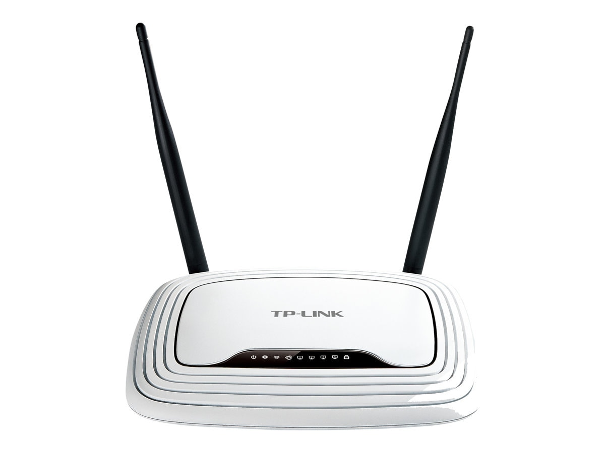 TP-LINK Wireless N300 Home Router, 300Mpbs, IP QoS, WPS Button, TL-WR841N