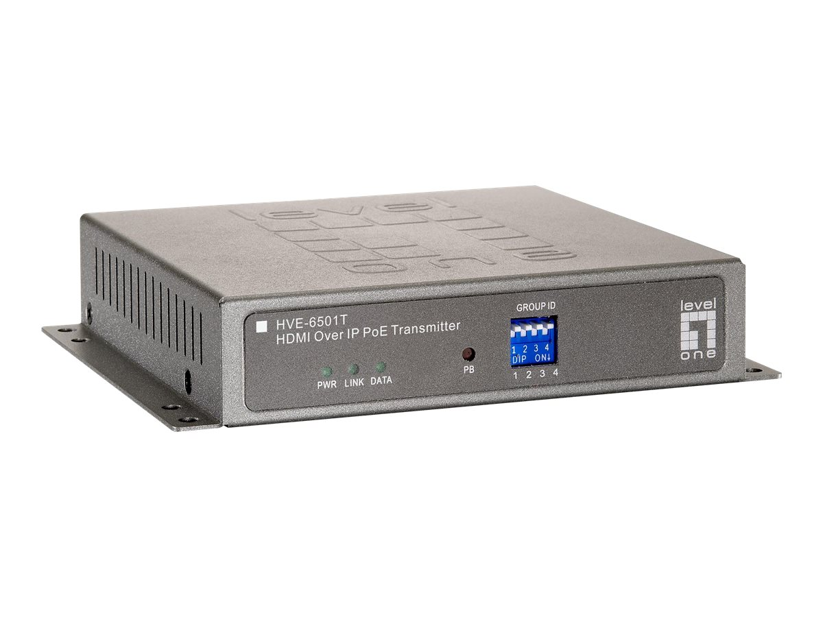 CP Technologies LevelOne HVE-6501T HDMI over IP PoE Transmitter - video extender, HVE-6501T, 17654932, Wireless Antennas & Extenders