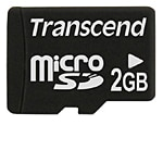 Transcend 2GB microSD Flash Memory Card