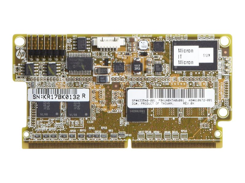 HPE 512MB P-series Flash Backed Write Cache for Select HP Servers, 661069-B21, 13753722, Memory