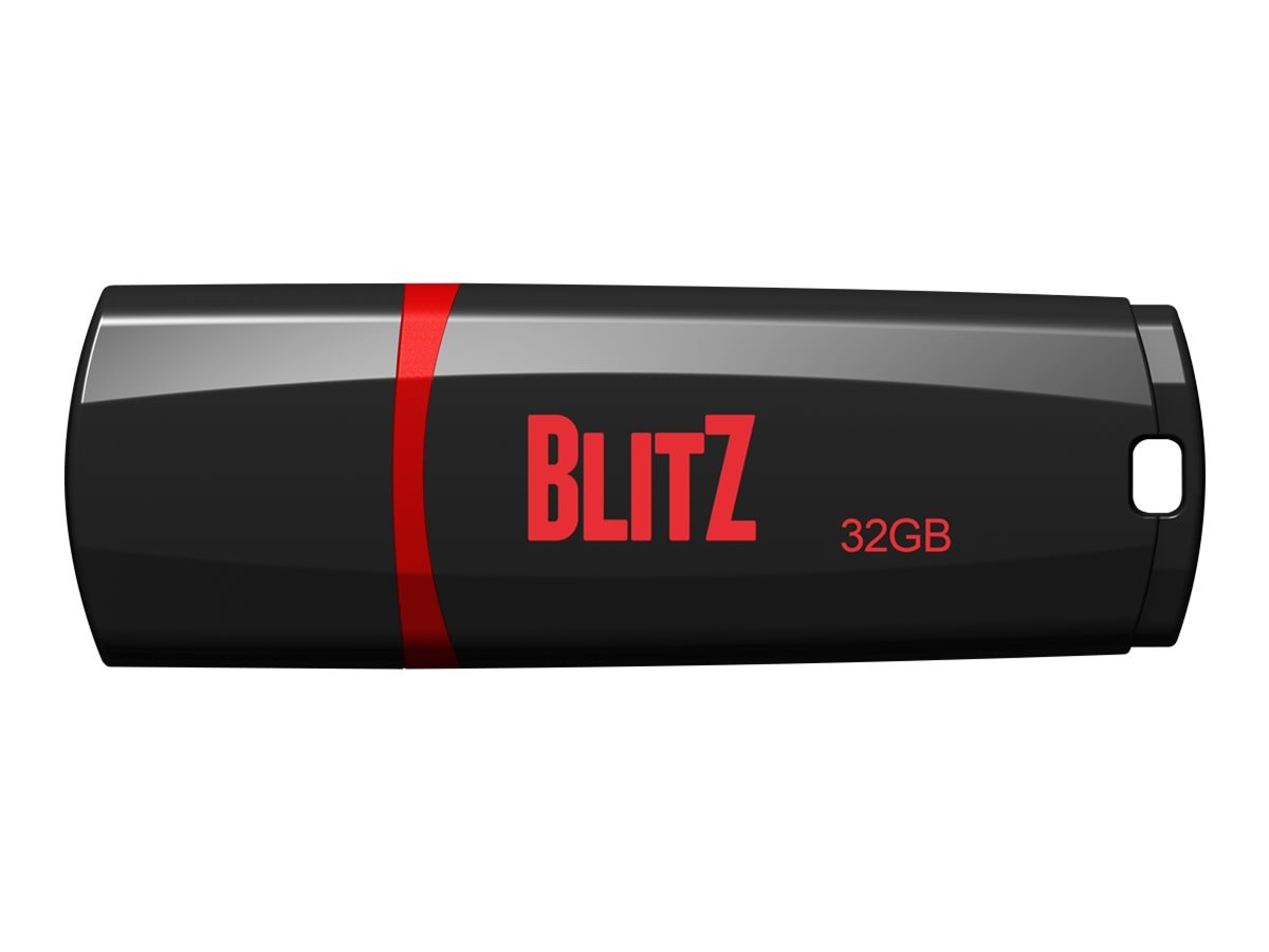 Patriot Memory 32GB Blitz USB 3.1 Gen.1 Flash Drive, Black, PSF32GBLZ3BUSB
