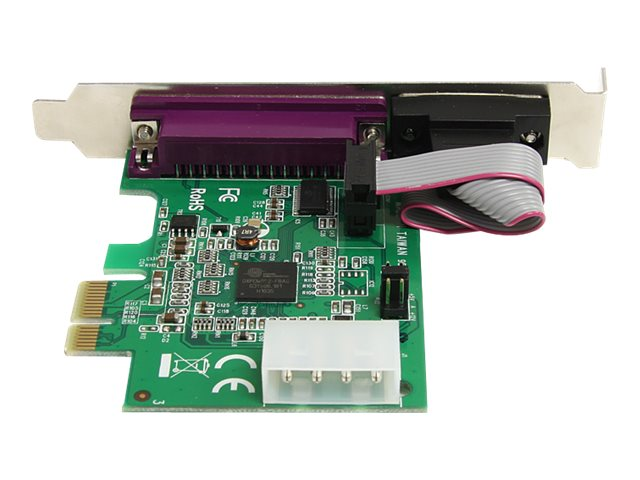 StarTech.com 1S1P Native PCI Express Parallel Serial Combo Card with 16950 UART, PEX1S1P952