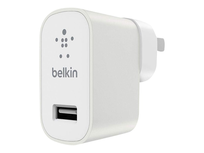 Belkin Travel Kit with 2.4A USB Charger, (6) Regional Plugs, White