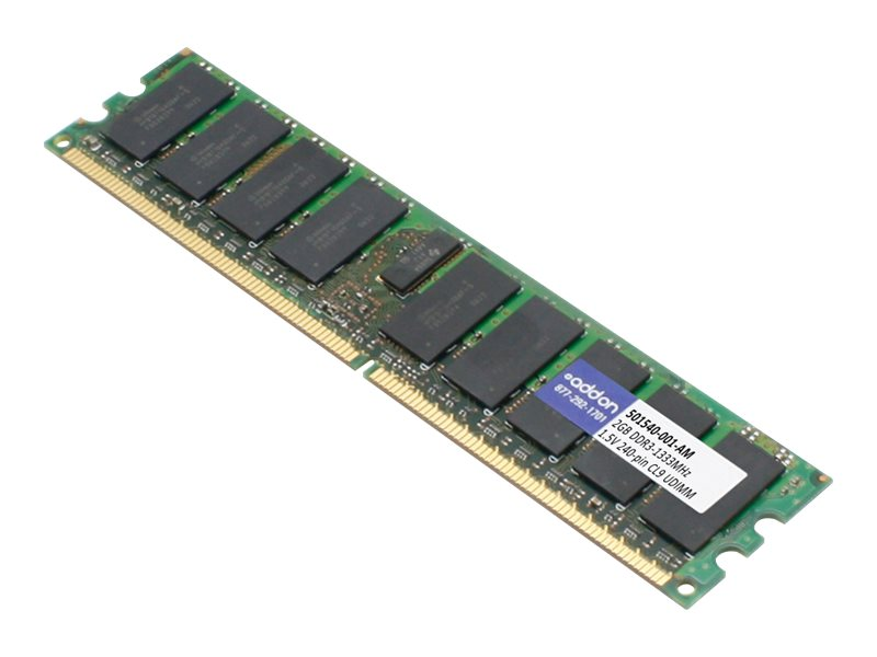 ACP-EP 2GB PC3-10600 240-pin DDR3 SDRAM UDIMM, 501540-001-AM