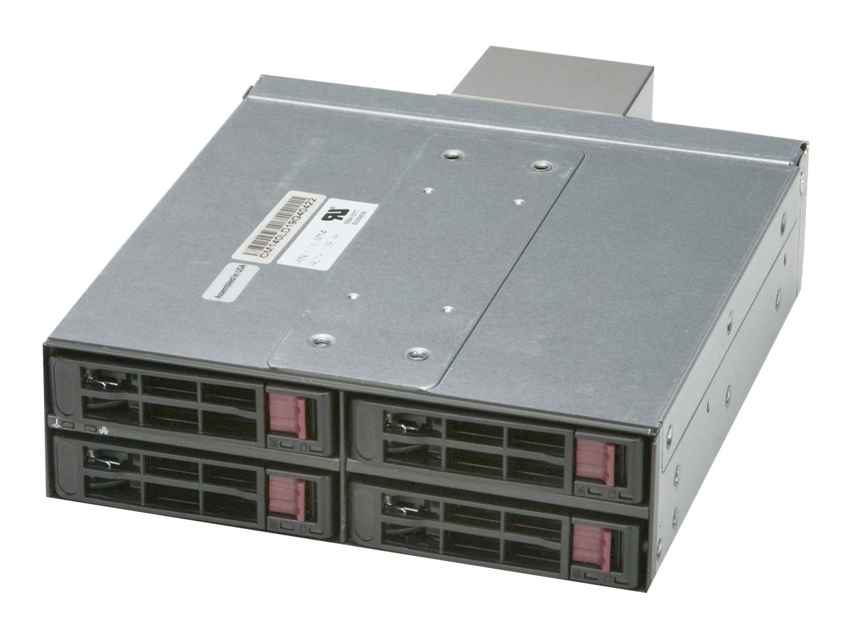 Supermicro Mobile Rackmount 4-Bay Enclosure - Black, CSE-M14TQC