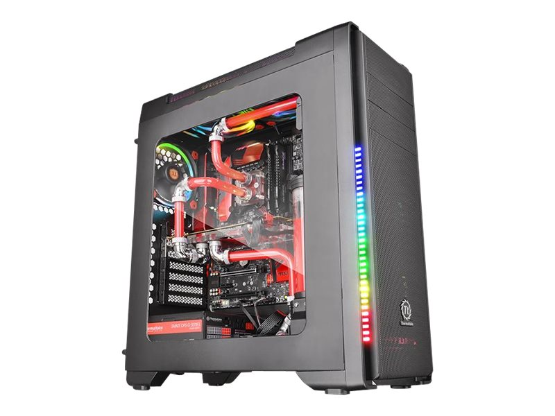 Thermaltake Chassis, Versa C21 RGB Mid Tower with Window ATX 2x3.5 Bays 2x2.5 Bays 7xSlots, Black