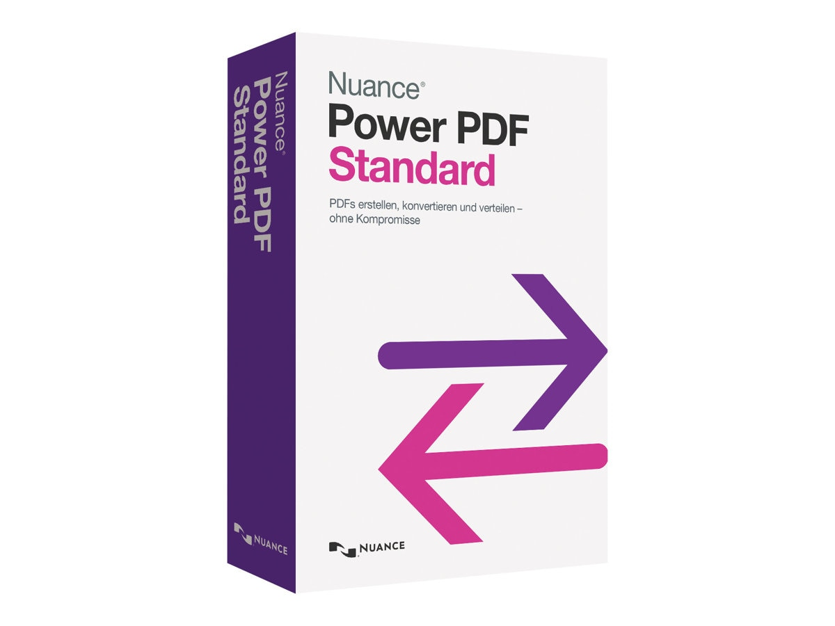 Nuance Power PDF Standard 1.0 - English - Retail DVD Mailer, AS09A-G00-1.0, 17054638, Software - File Sharing