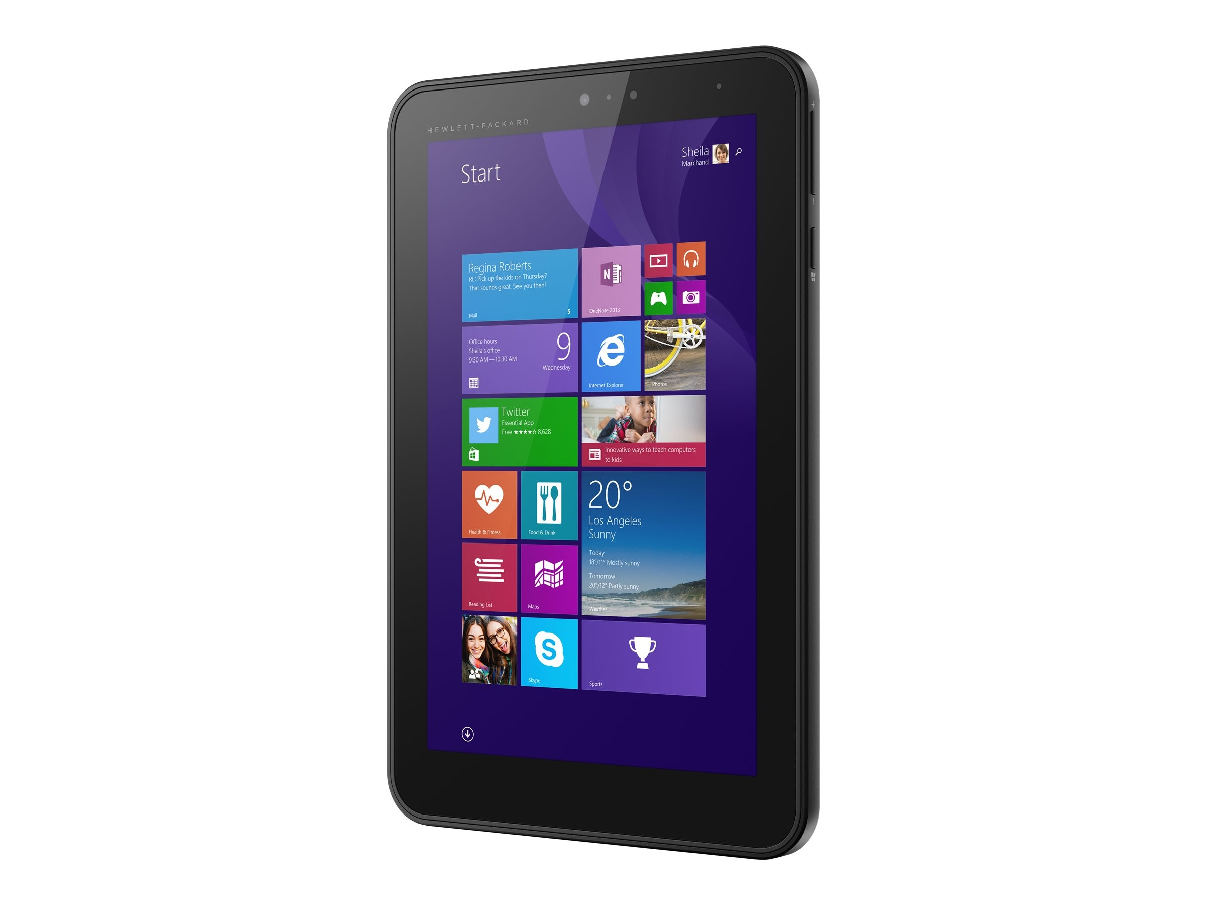 HP Pro Tablet 408 G1 1.33GHz processor Windows 8.1 Pro, L4A34UT#ABA