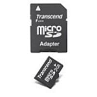 Transcend 2GB microSD Flash Memory Card with SD Adapter, TS2GUSD, 10953462, Memory - Flash