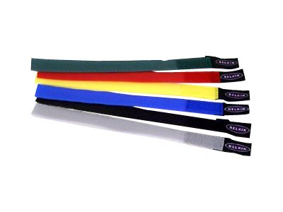 Belkin Velcro Cable Ties, 8 inch, 6-pack, multicolored