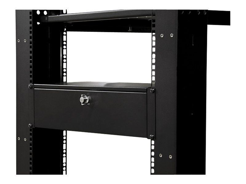 StarTech.com 9in Deep Rack Mount Locking Storage Drawer, 3U, SH39LK, 9897504, Rack Mount Accessories