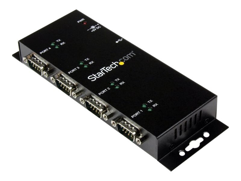 StarTech.com 4-Port USB to DB9 RS232 Serial Adapter Hub