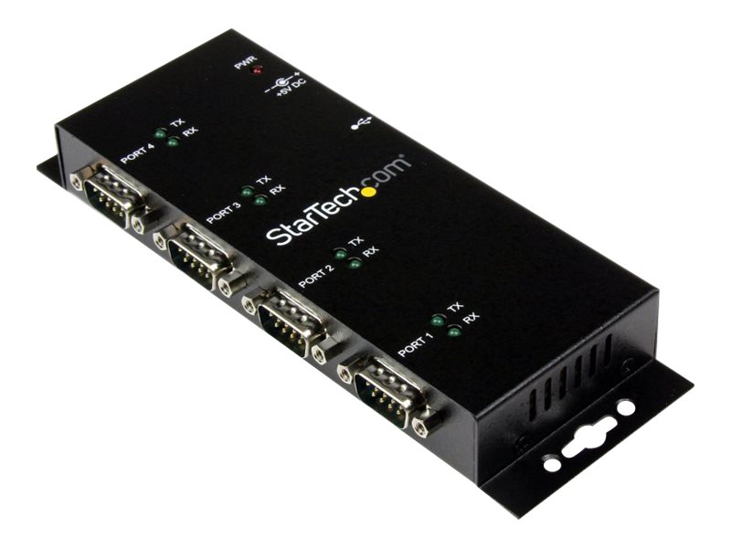 StarTech.com 4-Port USB to DB9 RS232 Serial Adapter Hub, ICUSB2324I