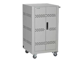 Black Box 36-Device Charging Cart, Steel Top, Fixed Shelves, Hinged Doors, (3) PDUs, VLC36SK-HD, 33701188, Computer Carts