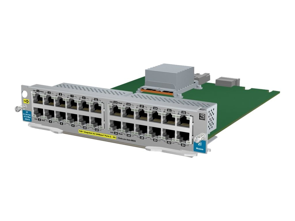 HPE 24-port 10 100 PoE+ V2 ZL Module, J9547A, 12230014, Network Device Modules & Accessories