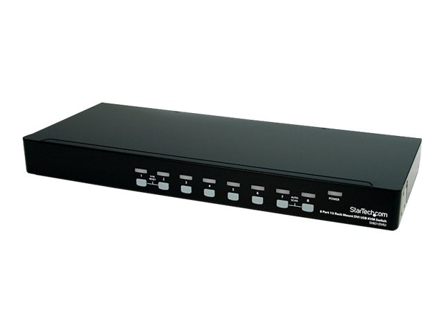 StarTech.com 8-Port 1U Rack Mount DVI USB KVM Switch, SV831DVIU, 12599188, KVM Switches