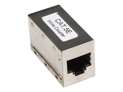 Intellinet 8P8C F F Cat5e Modular Inline Coupler 568A 568B Silver, 504768, 16215276, Premise Wiring Equipment